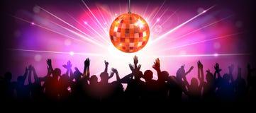 De partij van de club met dansende mensen Stock Fotografie