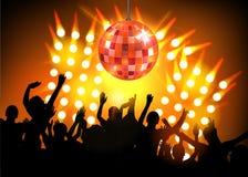 De partij van de club met dansende mensen Stock Afbeelding