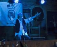 De Partij van de de Verjaardagsverjaardag van Dan McCafferty zeventigste in Dokwerkerbar in Kiev, de Oekraïne op 09 Oktober, 2016 Royalty-vrije Stock Foto
