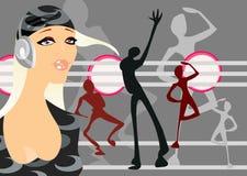 De partij van de disco stock illustratie