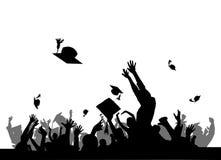 De partij van de graduatie   stock illustratie