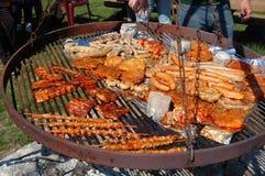 De partij van de grill Stock Foto's