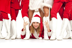 De partij van de Kerstman `s stock foto