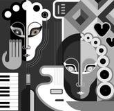 De Partij van de muziek - vectorillustratie Stock Foto's