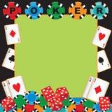 De partij van de pook het gokken uitnodiging Stock Foto's