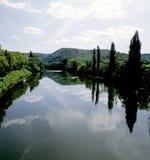 De partij van de rivier stock foto