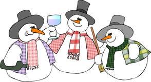 De Partij van de sneeuwman stock illustratie