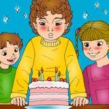 De partij van de verjaardag. Stock Foto's