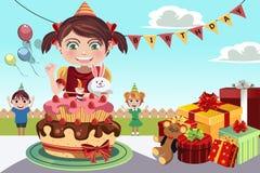 De partij van de verjaardag royalty-vrije illustratie