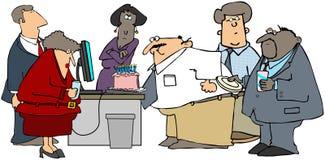 De Partij van de Verjaardag van het bureau vector illustratie