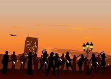 De Partij van de zonsondergang stock illustratie