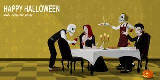 De partij van Halloween royalty-vrije illustratie