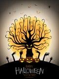 De partij van Halloween Affiche met Duivels` s boom stock illustratie