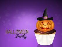 De partij van Halloween cupcakes stock illustratie