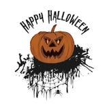 De partij van Halloween Hand getrokken illustratie van pompoen geïsoleerd Fr Stock Foto's