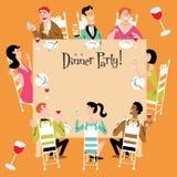 De Partij van het diner Stock Foto