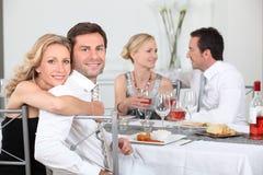 De partij van het diner royalty-vrije stock afbeeldingen