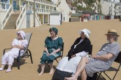 De partij van het het Festivalstrand van Broadstairsdickens Royalty-vrije Stock Foto