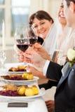 De partij van het huwelijk bij diner Royalty-vrije Stock Fotografie