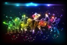 De partij van het neon vector illustratie