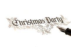 De Partij van Kerstmis nodigt uit royalty-vrije stock afbeeldingen
