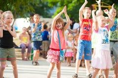 De partij van kinderen openlucht Stock Afbeelding