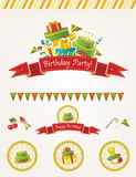 De partij vectorelementen van de verjaardag Royalty-vrije Stock Afbeelding