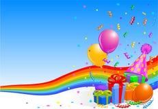 De partijachtergrond van de verjaardag Stock Afbeelding