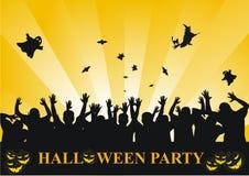 De partijachtergrond van Halloween Stock Foto's