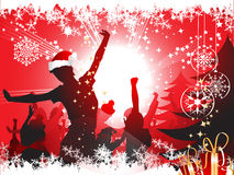 De partijachtergrond van Kerstmis Stock Foto's