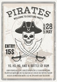 De Partijaffiche van het piratenkostuum Stock Foto