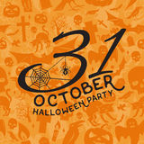 31 de partijconcept van oktober Halloween Royalty-vrije Stock Afbeeldingen