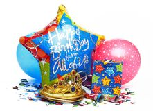 De partijdecoratie van de verjaardag Royalty-vrije Stock Afbeelding