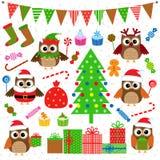 De partijelementen van Kerstmis Stock Afbeelding