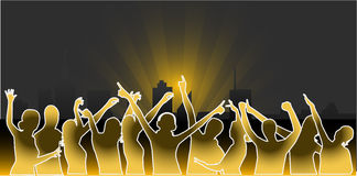 De Partijen van de stad - het vectorwerk Royalty-vrije Stock Afbeelding