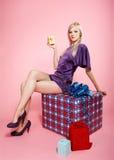 De partijmeisje van de blonde Royalty-vrije Stock Afbeeldingen