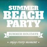 De partijpagina van het de zomerstrand met vakantie Royalty-vrije Stock Fotografie
