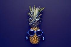 De Partijstemming van Hipster van de ananasmanier Alle beelden op muur filtreerden enkel geheel deze foto Royalty-vrije Stock Afbeeldingen