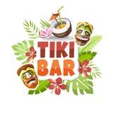 De partijsticker van Hawaï van de Tikibar vector illustratie