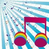 De partijuitnodiging van de muziek Stock Foto