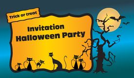 De partijuitnodiging van Halloween Royalty-vrije Stock Foto's