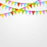 De partijvlaggen vieren heldere abstracte achtergrond Royalty-vrije Stock Foto's