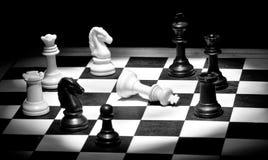 De partner van de controle in zwart-wit stock foto