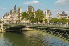 de, Paryski urzędu miasta budynek, Paryż, Francja Obrazy Stock