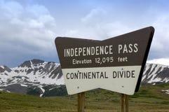 De Pas Colorado van de onafhankelijkheid royalty-vrije stock foto