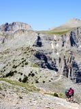De pas van bergolympus in Griekenland stock foto