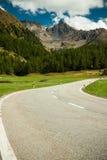 De pas van de Berg van Bernina dichtbij St. Moritz Royalty-vrije Stock Afbeelding
