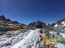 De Pas van Dolmala - zet Kailash Kora in de Lente in Tibet in China op stock afbeelding