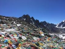 De Pas van Dolmala - zet Kailash Kora in de Lente in Tibet in China op royalty-vrije stock foto
