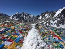 De Pas van Dolmala - zet Kailash Kora in de Lente in Tibet in China op royalty-vrije stock afbeeldingen